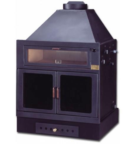 Termocamino a legna con forno Isokalor mod: Ekostar