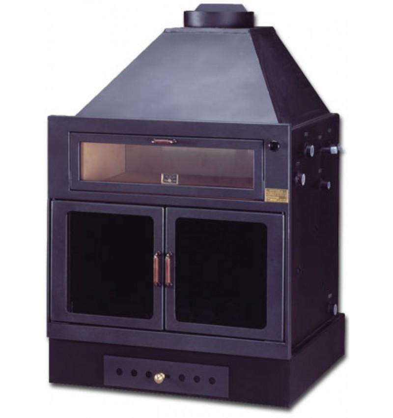 Termocamino a legna con forno isokalor mod ekostar filippi shop - Caminetti con forno ...
